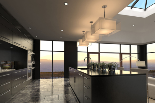 modernistic-kitchen-dark
